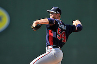 Starting pitcher Mike Soroka (54) of the Rome Braves delivers a pitch in a game against the Greenville Drive on Sunday, July 31, 2016, at Fluor Field at the West End in Greenville, South Carolina. Rome won, 6-3. (Tom Priddy/Four Seam Images)