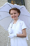 Dearbhla Kavanagh at Bellewstown NS Communion...(Photo credit should read Jenny Matthews www.newsfile.ie)....This Picture has been sent you under the conditions enclosed by:.Newsfile Ltd..The Studio,.Millmount Abbey,.Drogheda,.Co Meath..Ireland..Tel: +353(0)41-9871240.Fax: +353(0)41-9871260.GSM: +353(0)86-2500958.email: pictures@newsfile.ie.www.newsfile.ie.