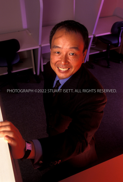 """9/24/2000--Tokyo, Japan..Iwao Keiichi founded Way Station in 1993 to help middle-aged managers in career limbo due to Japan's stagnant economy move on. But business quadrupled in the past year as stagnation turned into recession, and companies scrambled to offload excess staff. """"If a company fires employees offhand, it becomes a social issue,"""" Iwao says. """"But if someone else does it for the company, it works out better and it becomes a new business - like mine.""""..All photographs ©2003 Stuart Isett.All rights reserved.This image may not be reproduced without expressed written permission from Stuart Isett."""