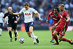 Jan Vertonghen of Tottenham Hotspur is challenged by Mike van der Hoorn of Swansea City during the premier league match at the Wembley Stadium, London. Picture date 16th September 2017. Picture credit should read: Robin Parker/Sportimage