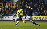 Blackburn Rovers' Adam Armstrong scores his side's second goal <br /> <br /> Photographer Rob Newell/CameraSport<br /> <br /> The EFL Sky Bet Championship - Millwall v Blackburn Rovers - Saturday 12th January 2019 - The Den - London<br /> <br /> World Copyright &copy; 2019 CameraSport. All rights reserved. 43 Linden Ave. Countesthorpe. Leicester. England. LE8 5PG - Tel: +44 (0) 116 277 4147 - admin@camerasport.com - www.camerasport.com