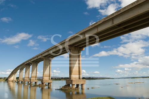 Ibotirama, Bahia State, Brazil. Sao Francisco River. Bridge.
