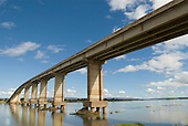 Ibotirama, Bahia State, Brazil. Sao Francisco River. Bridge.
