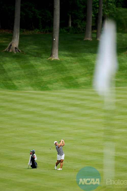 22 MAY 2009: Alice Kim of the University of California - Davis hits and approach shot during the 2009 NCAA Women's Division I Golf Championship held at Caves Valley Golf Club hosted by Georgetown University in Owings Mills, MD. Brett Wilhelm/NCAA Photos