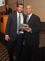 State College, PA - 12/13/2015:  Penn State Football 2015 Senior Awards banquet presented by State College Quarterback Club, held at the Penn Stater Conference Center.<br /> <br /> Photos by Joe Rokita / JoeRokita.com