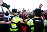 Jake Wright of Sheffield Utd  emerges from the crowd during the English League One match at Sixfields Stadium Stadium, Northampton. Picture date: April 8th 2017. Pic credit should read: Simon Bellis/Sportimage