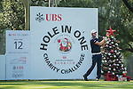 Damien Perrier of France tees off the 12th hole during the 58th UBS Hong Kong Golf Open as part of the European Tour on 09 December 2016, at the Hong Kong Golf Club, Fanling, Hong Kong, China. Photo by Marcio Rodrigo Machado / Power Sport Images