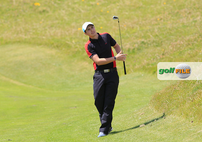 Andrew McCormack (Newcastle West) on the 4th during Round 2 of the South of Ireland Amateur Open Championship at LaHinch Golf Club on Thursday 23rd July 2015.<br /> Picture:  Golffile | Thos Caffrey