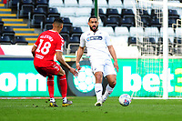 Cameron Carter-Vickers of Swansea City in action during the Sky Bet Championship match between Swansea City and Middlesbrough at the Liberty Stadium in Swansea, Wales, UK. Saturday 06 April 2019