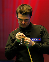 25th February 2020; Waterfront, Southport, Merseyside, England; World Snooker Championship, Coral Players Championship; Michael Holt (ENG) at the table during his first round match against Judd Trump (ENG)