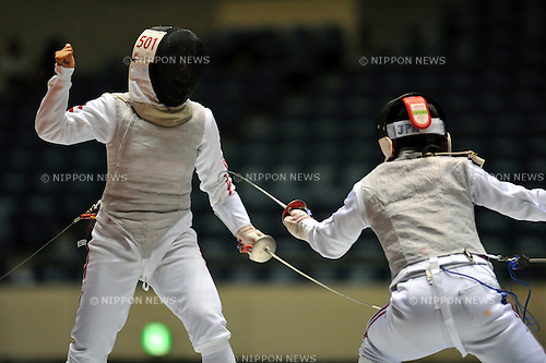 Chieko Sugawara (JPN), September 9, 2011 - Fencing : The 64th All Japan fencing Championships, Women's Fleuret semi-final at 1nd Yoyogi Gymnasium, Tokyo, Japan. (Photo by Jun Tsukida/AFLO SPORT) [0003]
