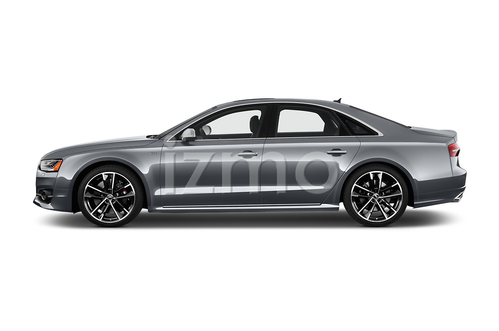 Car driver side profile view of a 2018 Audi S8 Plus quattro Tiptronic 4 Door Sedan