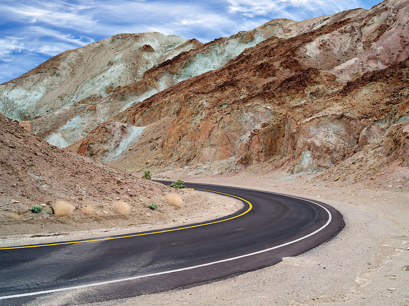 Artists Drive. road. Death Valley National Park, California.