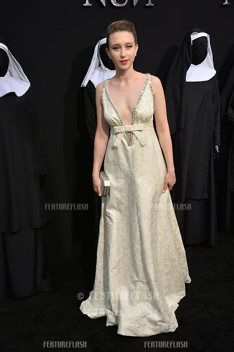 "LOS ANGELES, CA. September 04, 2018: Taissa Farmiga at the world premiere of ""The Nun"" at the TCL Chinese Theatre, Hollywood."
