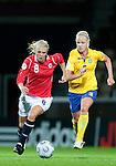 Solveig Guldbrandsen, Caroline  Seger, QF, Sweden-Norway, Women's EURO 2009 in Finland, 09042009, Helsinki Football Stadium.