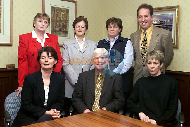 Dunleer Credit Union Promotional Committee. Back Row L/R, May Comer, Rose Smyth, Helena Bowhan and Frankie Clare. Front Row L/R, Monica McCullough, Frank McGahon (chairman) and Sandra O'Brien..Picture Paul Mohan Newsfile