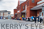 Shoppers que at Dunnes Stores, North Circular road, Tralee on Saturday.