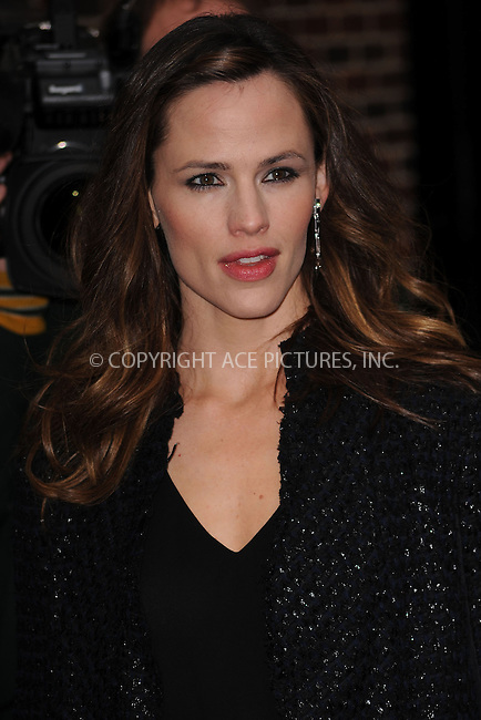 WWW.ACEPIXS.COM . . . . . ....February 9 2010, New York City....Actress Jennifer Garner made an appearance at 'The Late Show with David Letterman' on February 9 2010 in New York City....Please byline: KRISTIN CALLAHAN - ACEPIXS.COM.. . . . . . ..Ace Pictures, Inc:  ..(212) 243-8787 or (646) 679 0430..e-mail: picturedesk@acepixs.com..web: http://www.acepixs.com