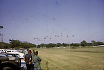 Helicopters fly in formation during training at Ft. Benning in 1964. This images is from the collection of J.W. Womble of the 610th Transportation Company during the Vietnam War.