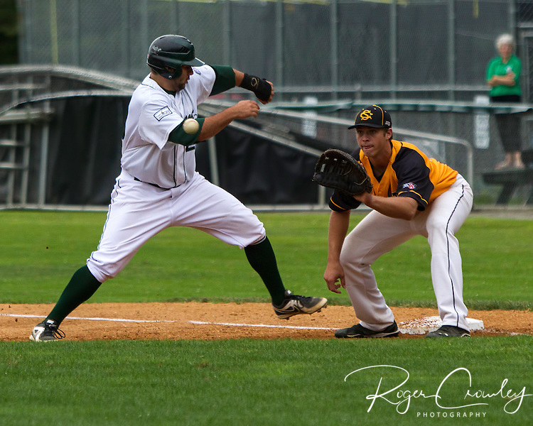Vermont Mountaineer defeat North Adams Stepplecats 5-4 at Montpelier Recreation Field.