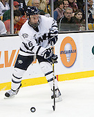 John Henrion (UNH - 16) - The Merrimack College Warriors defeated the University of New Hampshire Wildcats 4-1 (EN) in their Hockey East Semi-Final on Friday, March 18, 2011, at TD Garden in Boston, Massachusetts.