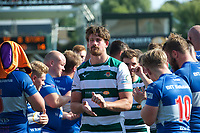 Players after the 2019/20 Pre Season Friendly match between Ealing Trailfinders and Bishop's Stortford at Castle Bar , West Ealing , England  on 24 August 2019. Photo by Alan  Stanford / PRiME Media images