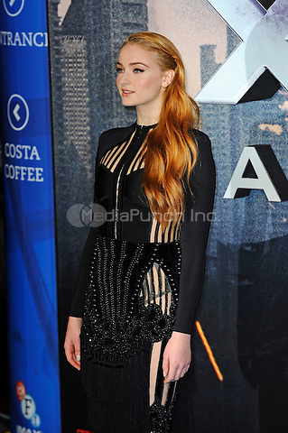 LONDON, ENGLAND - MAY 9: Sophie Turner attending the 'X-Men: Apocalypse' - Global Fan Screening at BFI IMAX in London on May 9, 2016 in London, England.<br /> CAP/MAR<br /> &copy; Martin Harris/Capital Pictures /MediaPunch ***NORTH AND SOUTH AMERICAN SALES ONLY***