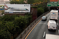 An iPad 2 advertising board is pictured in New York City, NY Monday August 1, 2011.