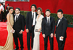 LOS ANGELES, CA. - September 20: (L-R) Actors Jamie-Lynn Sigler, Jerry Ferrara, Adrian Grenier, Perrey Reeves, Kevin Connolly and Rex Lee arrive at the 61st Primetime Emmy Awards held at the Nokia Theatre on September 20, 2009 in Los Angeles, California.