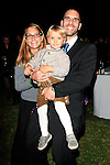 LOS ANGELES - OCT 24: Stefan Heigl, wife, son at the Austrian National Day Celebration in the Residence of the Consul on October 24, 2013 in Los Angeles, California