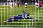 01.12.2019, Borussia Park , Moenchengladbach, GER, 1. FBL,  Borussia Moenchengladbach vs. SC Freiburg,<br />  <br /> DFL regulations prohibit any use of photographs as image sequences and/or quasi-video<br /> <br /> im Bild / picture shows: <br /> 11 Meter durch Breel Embolo (Gladbach #36),  haelt Mark Flekken Torwart (Freiburg #26), <br /> <br /> Foto © nordphoto / Meuter