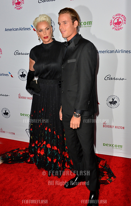 LOS ANGELES, CA. October 06, 2018: Brigitte Nielsen &amp; Douglas Meyer at the 2018 Carousel of Hope Ball at the Beverly Hilton Hotel.<br /> Picture: Paul Smith/Featureflash
