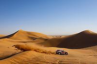 12th January 2020, Riyadh, Saudi Arabia;  302 Peterhansel Stéphane (fra), Fiuza Paulo (prt), Mini John Cooper Works Buggy, Bahrain JCW X-Raid Team, during Stage 7 of the Dakar 2020 between Riyadh and Wadi Al-Dawasir, 741 km - SS 546 km, in Saudi Arabia   - Editorial Use
