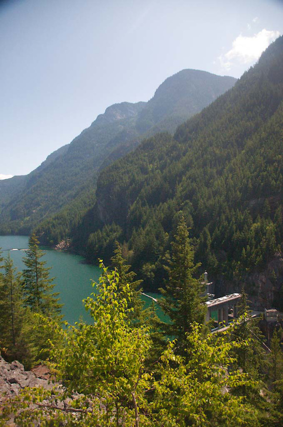 Diablo Dam on Diablo Lake, North Cascades National Park, Washington, US