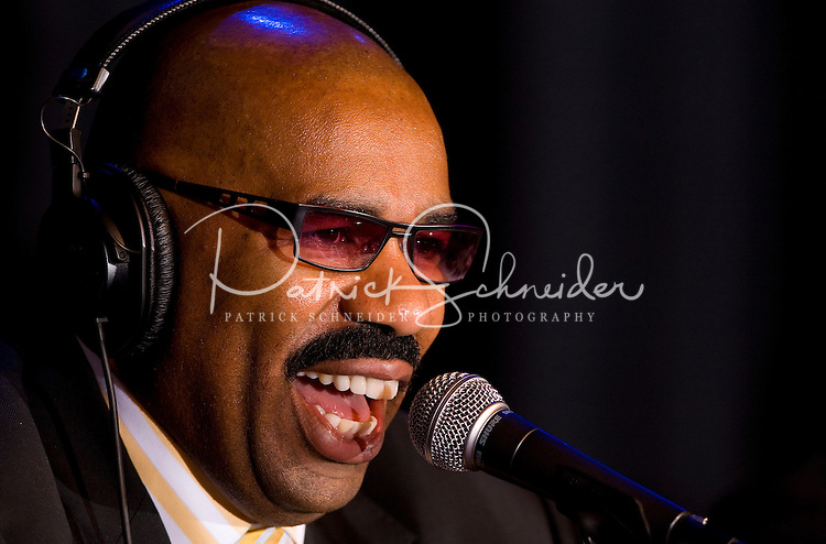 Radio host Steve Harvey during the CIAA Tournament  in Charlotte, NC.