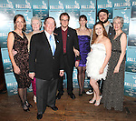 Director Lori Adams, Celia Howard, Producer Terry Schnuck, Daniel Pearce, Julia Murney, Jacey Powers, Daniel Everidge and Playwright Deanna Jent attending the Off-Broadway Opening Night Performance After Party for 'Falling' at Knickerbocker Bar & Grill on October 15, 2012 in New York City.