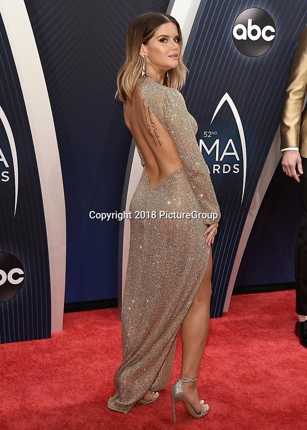 NASHVILLE, TN - NOVEMBER 14:  Maren Morris at the 52nd Annual CMA Awards at the Bridgetone Arena on November 14, 2018 iin Nashville, Tennessee. (Photo by Scott Kirkland/PictureGroup)