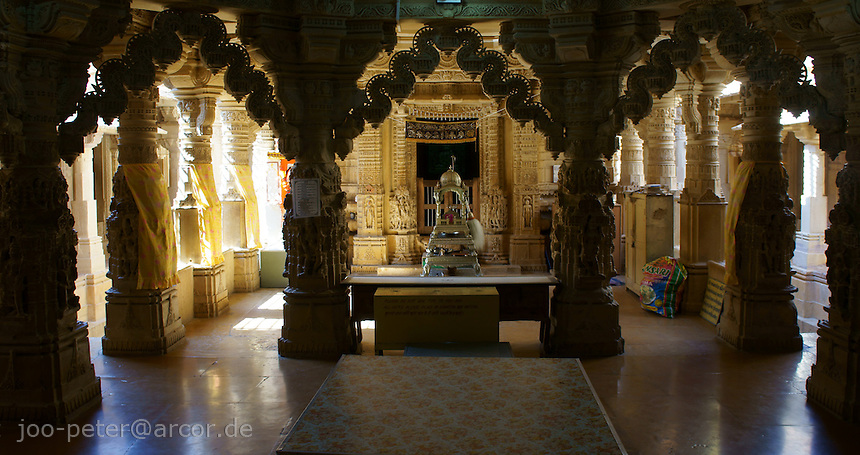 main room in Jain temple, Fort Jaisalmer, Rajastan, India