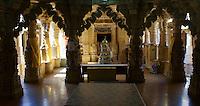 main room in Jain temple, Fort Jaisalmer, Rajastan, India