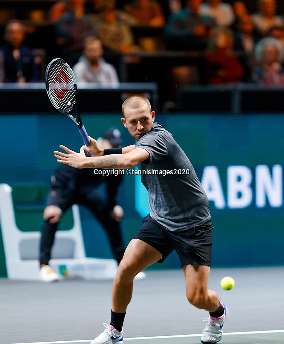 Rotterdam, The Netherlands, 14 Februari 2020, ABNAMRO World Tennis Tournament, Ahoy, Daniel Evans (GBR).<br /> Photo: www.tennisimages.com