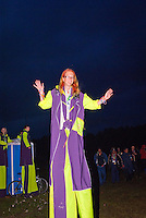 Planning team Member from the circus during the opening ceremony
