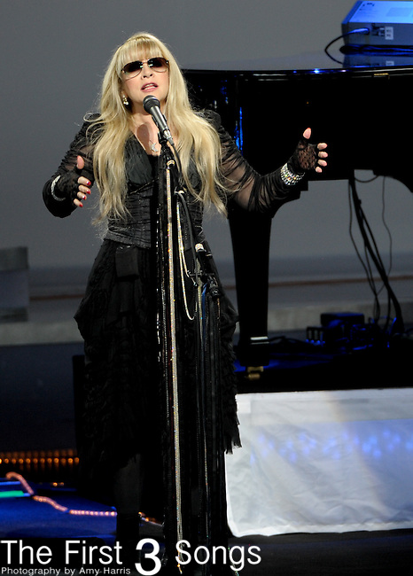 Stevie Nicks performs on July 21, 2012 at Riverbend Music Center in Cincinnati, Ohio.