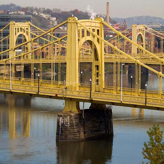 Pittsburgh Bridges, square crop series, Three Sisters