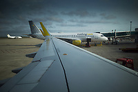 Spain. Balearic Islands. Minorca (Menorca). Mahon. Menorca Airport is the airport serving the Balearic island. The airport is located 4.5 km southwest of Mahón after which it is sometimes informally also named. Two Vueling Airbus A320. Vueling Airlines, S.A. is a Spanish low cost airline. It is the largest airline in Spain, measured by fleet size and number of destinations. The Airbus A320 family consists of short- to medium-range, narrow-body, commercial passenger twin-engine jet airliners by Airbus.  Maó (in Catalan) and Mahón (in Spanish), written in English as Mahon, is a municipality, the capital city of the island of Menorca, and seat of the Island Council of Menorca. The city is located on the eastern coast of the island, which is part of the autonomous community of the Balearic. In Spain, an autonomous community is a first-level political and administrative division, created in accordance with the Spanish constitution of 1978, with the aim of guaranteeing limited autonomy of the nationalities and regions that make up Spain. 13.09.2019 © 2019 Didier Ruef