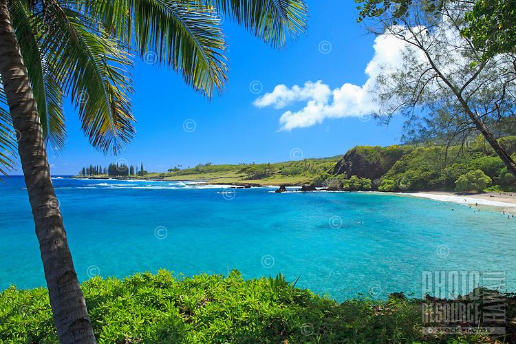Beautiful day at Hamoa Beach, Hana, Maui, Hawaii.
