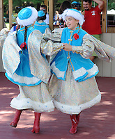 PSHRINE07P<br /> Gabriela Kisiewlewski (L) and Emilia Wrazen of Manchester, New Jersey perform a Polish dance during the 50th annual Polish American family festival and country fair at the National Shrine of Our Lady of Czestochowa Sunday September 6, 2015 in Doylestown, Pennsylvania.  (William Thomas Cain/For The Inquirer)