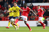 Nottingham Forest's Pele battles with Blackburn Rovers' Lewis Travis<br /> <br /> Photographer David Shipman/CameraSport<br /> <br /> The EFL Sky Bet Championship - Nottingham Forest v Blackburn Rovers - Saturday 13th April 2019 - The City Ground - Nottingham<br /> <br /> World Copyright © 2019 CameraSport. All rights reserved. 43 Linden Ave. Countesthorpe. Leicester. England. LE8 5PG - Tel: +44 (0) 116 277 4147 - admin@camerasport.com - www.camerasport.com