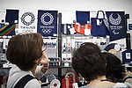 Tokyo Olympics 2020 Showroom September 14, 2017: customers look at Tokyo Olympics 2020 goods in a shop in Harajuku, in Tokyo on September 14, 2017. A Tokyo Olympics 2020 showroom open for short term in the fashionable area of Harajuku, in Tokyo. (Photo by Nicolas Datiche/AFLO) (JAPAN)