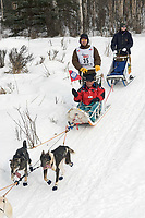 Aaron Burmeister w/Iditarider on Trail 2005 Iditarod Ceremonial Start near Campbell Airstrip Alaska SC