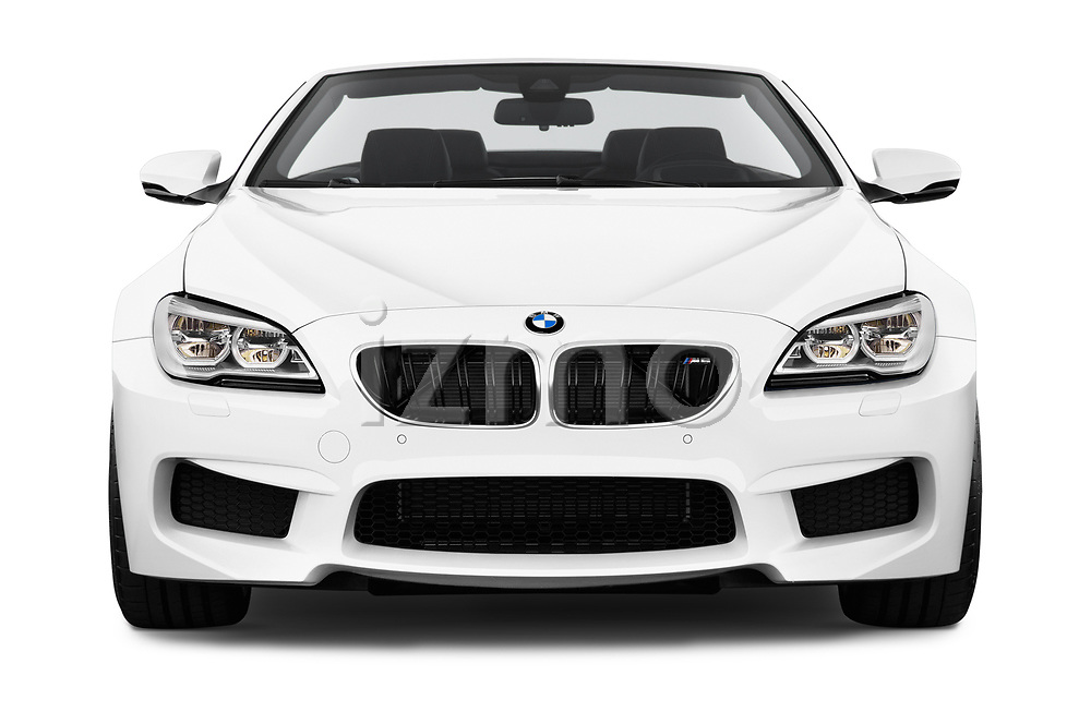 Car photography straight front view of a 2017 BMW M6 - 2 Door Convertible Front View